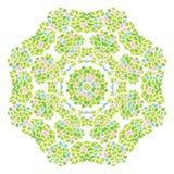 Teste padrão redondo da folha da natureza verde ilustração royalty free