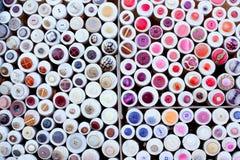Teste padrão redondo das caixas do indicador colorido das teclas Foto de Stock