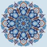Teste padrão redondo decorativo Imagens de Stock Royalty Free