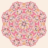 Teste padrão redondo decorativo ilustração stock