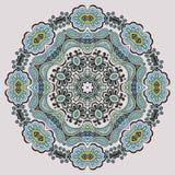 Teste padrão redondo decorativo ilustração royalty free