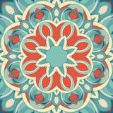 Teste padrão redondo decorativo Fotografia de Stock