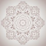 Teste padrão redondo decorativo do laço Imagens de Stock Royalty Free