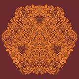 Teste padrão redondo decorativo do laço ilustração royalty free