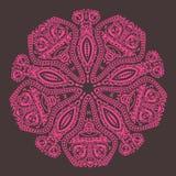 Teste padrão redondo decorativo do laço ilustração stock