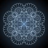 Teste padrão redondo decorativo do laço ilustração do vetor