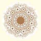Teste padrão redondo decorativo do laço. Círculo delicado. Imagens de Stock Royalty Free
