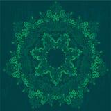 Teste padrão redondo decorativo do laço, fundo do círculo com muitos detalhes ilustração stock