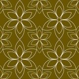 Teste padrão regular sem emenda com design floral Imagens de Stock Royalty Free