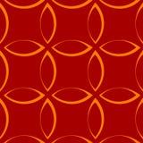 Teste padrão repetitivo monocromático com formas da pétala/flor/folha ilustração do vetor