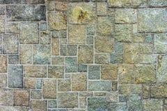 Teste padrão retangular na parede de pedra Fotografia de Stock Royalty Free