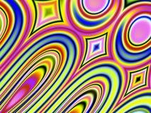 Teste padrão retro 2 dos círculos de cores Fotos de Stock Royalty Free