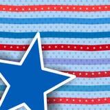 Teste padrão retro abstrato para o Dia da Independência. Fotos de Stock Royalty Free