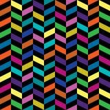 Teste padrão retro colorido Fotografia de Stock