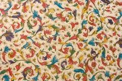 Teste padrão retro colorido de matéria têxtil da tapeçaria Imagens de Stock Royalty Free