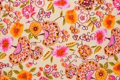 Teste padrão retro colorido de matéria têxtil da tapeçaria Fotografia de Stock Royalty Free