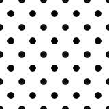 Teste padrão retro com os às bolinhas pretos no fundo branco Imagens de Stock