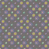 Teste padrão retro da aquarela de formas geométricas Imagens de Stock Royalty Free