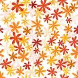 Teste padrão retro da flor sem emenda na coluna brilhante do outono Fotos de Stock Royalty Free