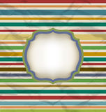 Teste padrão retro da listra, fundo colorido do vintage Fotografia de Stock