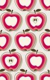 Teste padrão retro da maçã Fotografia de Stock