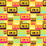 Teste padrão retro das cassetes áudio do PNF Fotografia de Stock