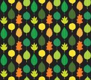 Teste padrão retro das folhas de outono Ilustração Stock