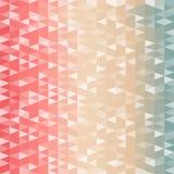 Teste padrão retro de fôrmas geométricas ilustração stock