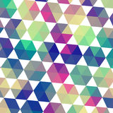Teste padrão retro de fôrmas geométricas Parte traseira colorida do mosaico do triângulo Imagem de Stock Royalty Free