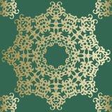Teste padrão retro do azulejo do vintage Teste padrão da telha do vetor antique ilustração stock