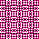 Teste padrão retro do cor-de-rosa & o branco Fotografia de Stock