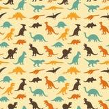 Teste padrão retro do dinossauro Fotografia de Stock