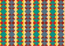 Teste padrão retro do fundo geométrico das formas ilustração stock