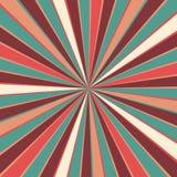 Teste padrão retro do fundo do starburst ou do sunburst com uma paleta de cores do vintage do branco azul e bege cor-de-rosa verm Fotografia de Stock Royalty Free