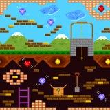 Teste padrão retro do jogo Foto de Stock