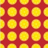 Teste padrão retro do limão do vetor de alto contraste Imagens de Stock Royalty Free