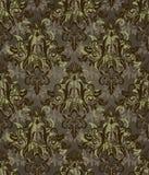 Teste padrão retro do marrom escuro Imagens de Stock Royalty Free