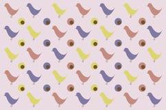 Teste padrão retro do pássaro para o fundo ilustração royalty free