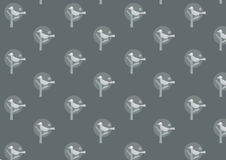 Teste padrão retro do papel de parede Imagens de Stock Royalty Free