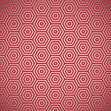 Teste padrão retro do vermelho dos anos setenta Imagens de Stock