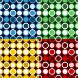 Teste padrão retro dos círculos Fotos de Stock Royalty Free