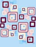 teste padrão retro dos quadrados Fotos de Stock