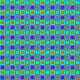 Teste padrão retro dos quadrados Ilustração do Vetor
