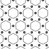 Teste padrão retro dos sacros primitivos do geometria com linhas e círculos Fotos de Stock Royalty Free