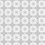 Teste padrão retro dos sacros primitivos do geometria com linhas e círculos Imagens de Stock Royalty Free