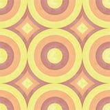 Teste padrão retro ensolarado (círculo) Fotografia de Stock Royalty Free