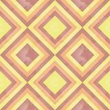 Teste padrão retro ensolarado (quadrado) ilustração stock