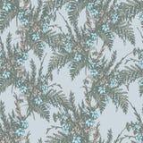 Teste padrão retro floral Imagens de Stock Royalty Free