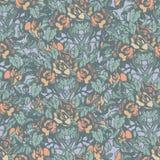 Teste padrão retro floral Imagem de Stock Royalty Free
