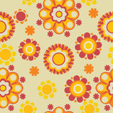 Teste padrão retro floral Fotografia de Stock Royalty Free